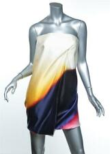 VICTORIA BECKHAM Airbrush Satin Twisted Corset Strapless (No.42) Dress US6 UK10