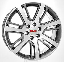 New 22 Inch GMC Yukon Denali Sierra Gunmetal/Machined Face Wheels Rims Lug Nuts