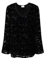 East John Lewis Rhiannon Devore  Top, Black With Floral  - Sizes 10 -- 16 - BNIP