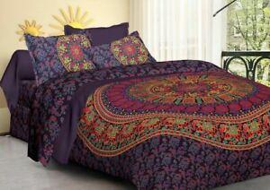 Indian Duvet Cover Comforter Mandala Super King Size Print Boho Doona Cover Set