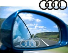Audi Rings logo Sticker Decal Etched Glass Effect for Mirror Style