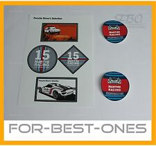NEU original Porsche Aufkleber Martini Racing Decal Sticker Driver`s Selection