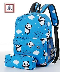 Gift Ideas Children's Kids Panda Backpack With Matching Pencil Case