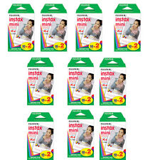 200 Prints Fujifilm Instax Mini Instant Color Film for 9 8, 7s, 70, NEO 90, SP-1
