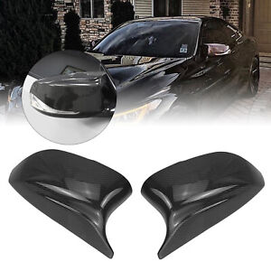 Carbon Fiber Side Mirror Cover Replacement For 2014+ Infiniti Q50 Q60 QX30 Q70