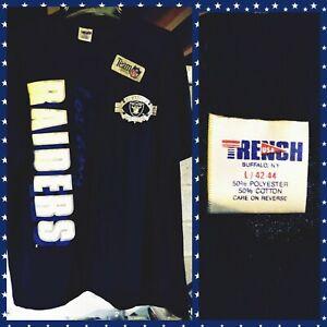 NEW 1990s Trench NFL Los Angeles Raiders Members Club Shirt (1) Hip Hop NWA L/XL