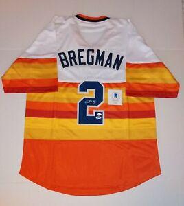 Elex Bregman Autographed Jersey houston astros throwback becket coa