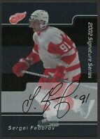 2001-02 BAP Signature Series Autographs SERGEI FEDOROV SP Detroit Red Wings