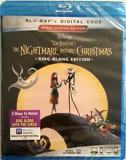 THE NIGHTMARE BEFORE CHRISTMAS SING-ALONG EDITION * BLU-RAY + DIGITAL CODE * NEW