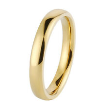 2mm Titanium Steel Engagement Band Silver/Gold/Rose Gold Wedding Ring Size 4-11