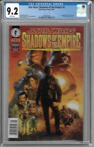 Star Wars: Shadows of the Empire #1 #2 CGC 9.2 & 8.5 WP 1st app. Prince Xizor NS