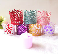 50pcs Laser Cut LED Tea Light Candle Holders Lampshade Wedding Party Table Decor