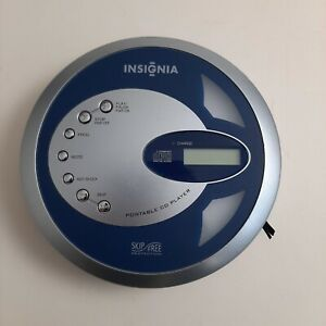 Insignia CD Portable Player IS-PA040717 Discman Vintage Silver Blue Disc