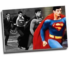 "Christopher Reeve Superman Transform Canvas Print Wall Art 30x20"" A1"