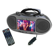 NAXA NDL-256 Naxa Bluetooth DVD Boombox with built-in 7 LCD screen