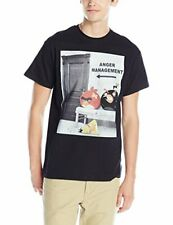 Angry Birds Men's Anger Management T-Shirt, Black, Small