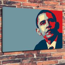 """Pop Art OBAMA HOPE Imprimé Photo sur toile A1.30""""x20"""" 30 mm Deep Home Decor"""
