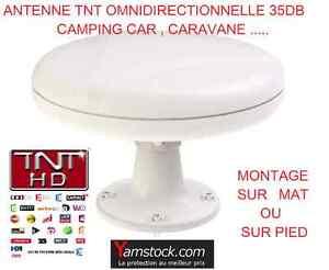 Antarion Antenne TNT Omnidirectionnelle 35DB , Camping car , caravane , bateau