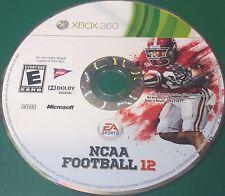 NCAA Football 12 (Microsoft Xbox 360, 2011)(DISC ONLY) #5835