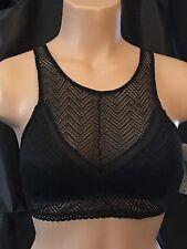 8e80e3b971b Women s Men s Sissy Black Lace High Neck Bralette Medium No Boundaries  Feminine