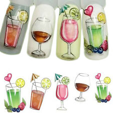 Nail Art Water Decals Transfers Stickers Summer Fruit Cocktails Holidays (473)