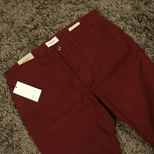 Maroon Pants Slim Chino Stretch Dress Casual Sz 34 30 Church School Goodfellow
