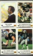 1985 Los Angeles Raiders  Football Police Complete Set(4) Marcus Allen Huey Long