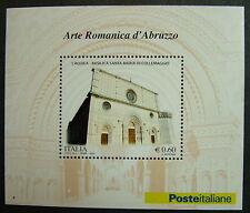"""2010 Italia  Mini Foglio """" Basilica Santa  Maria di Collemaggio """"   MNh**"""