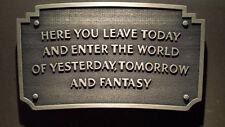 Disneyland Entrance sign plaque entranceway