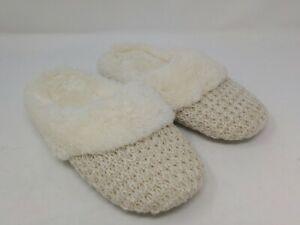 Dearfoams Women's Beige Slippers Small Size 5-6 US