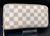 Auth Louis Vuitton Long Zippy Wallet Damier Azur N60019 France A-1396