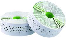Merida road bike handle Bar Tape - White/Green Dots - Dual Density Microfibre.