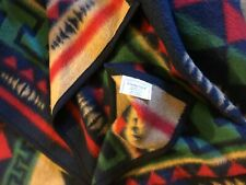 "Biederlack Of America Vntg German Southwestern Tribal 73""x 51"" Throw Blanket"