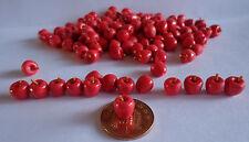 1:12 escala 12 manzanas rojas deliciosas muñeca casa miniatura, Jardín, Cocina