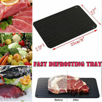 Magic Metal Plate Defrosting Tray Safe Fast Thawing Frozen Meat Defrost Kitchen