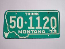 AUTHENTIC 1973 MONTANA LICENSE PLATE