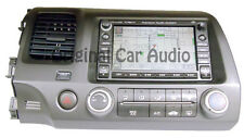 06 07 08 HONDA Civic Navigation GPS Radio Single CD XM SAT 2AC6 2006 2007 OEM