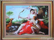 XXXL Bild Diana Kreuzstich Stickpackung Stickset Stickbild Stickgarn Perlen 238