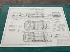 Mercedes W126 Limousine Blueprint / Konstruktionszeichnung