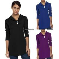 Women lady Casual Shawl Collar Long Sleeve Slim Outwear Tops Blouse Coat