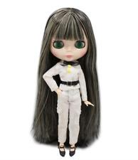 Long Black Hair w/ Highlights Blythe doll joint 1/6 BJD 4 Changing Eyes