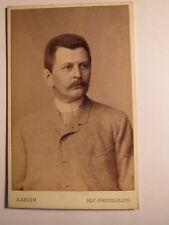 Dresden - 1888 - Edmund Leuschke in Firma J. W. Eanders ? als Mann / CDV