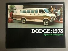 1973 Dodge Sportsman Wagons Showroom Advertising Sales Brochure RARE Awesome
