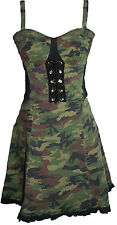 SALE!! Camo Print Combat Dress by Tripp NYC Punk Size 10 Medium Camouflage