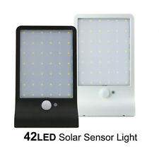 Waterproof 42 LED Solar Power Motion Sensor Security Light Outdoor Garden Lamp