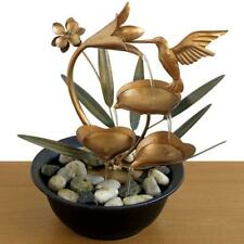 Water Fountain Lily Hummingbird Waterfall Indoor Home Decor Table Desk Gift New