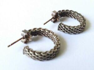 Tiffany Hoop 925 Sterling Silver Earrings Vintage (4.3 grams)