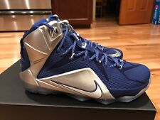 Nike LeBron 12 XII What If Dallas Cowboys Royal Blue Silver 684593-410 DS Size 8
