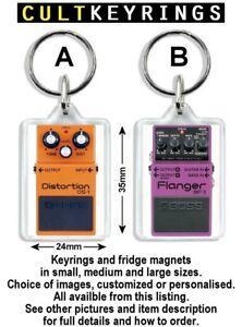 Boss keyring / fridge magnet - guitar pedal Distortion Flanger Overdrive Vocoder