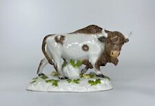 Meissen porcelain Bison, c. 1890.